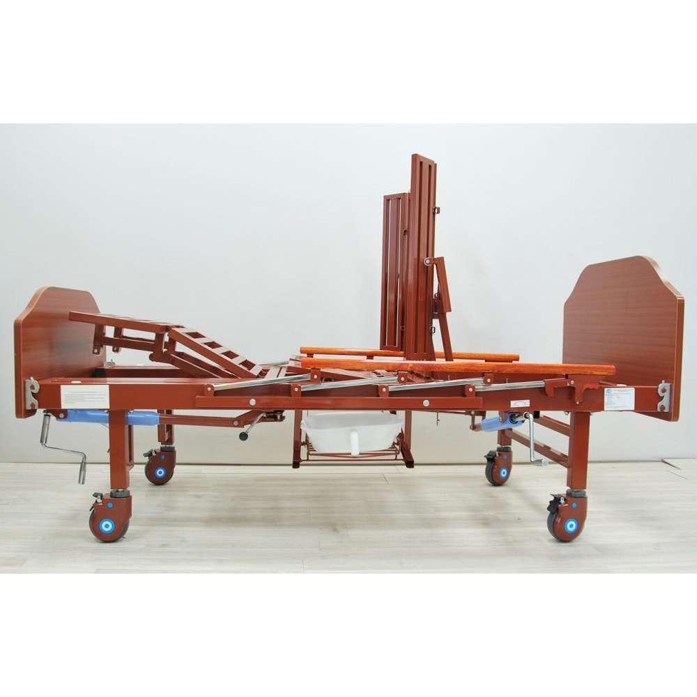 Кровать механическая YG-5 Праймед с боковым переворачиванием, туалетным устройством и функцией «кардиокресло»