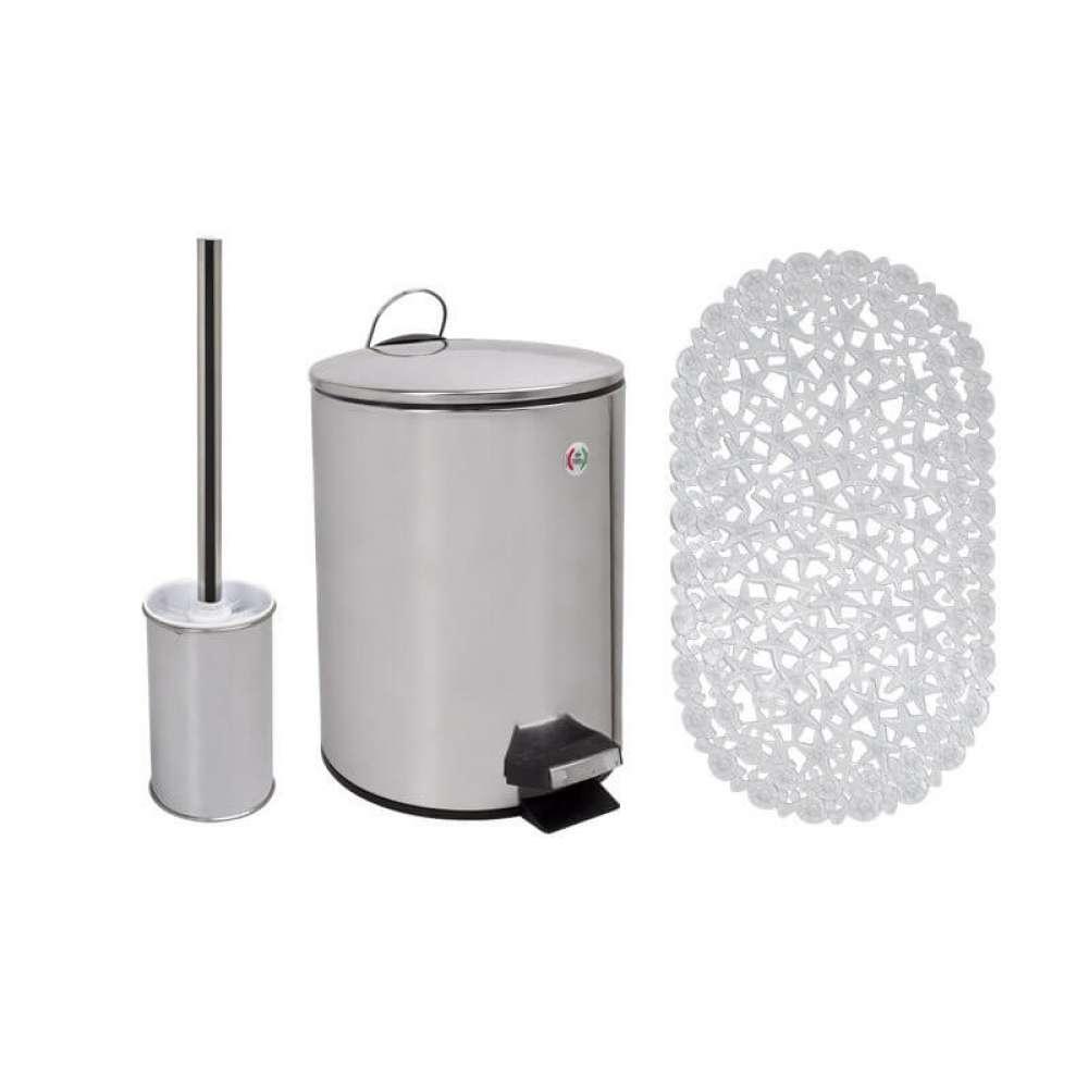 Набор аксессуаров для ванной комнаты Trento Морская звезда, хром/прозрачный (36613)