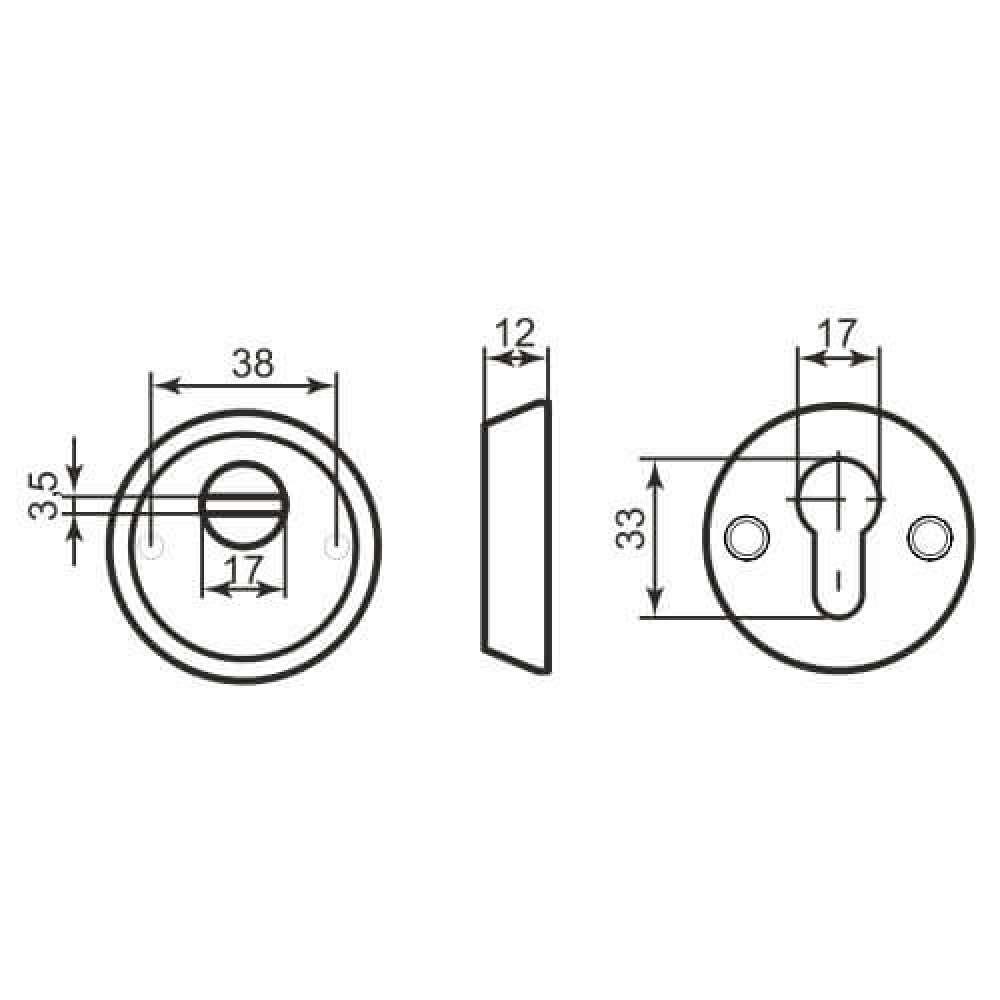 Броненакладка Protect PT-12 CP хром (39868)