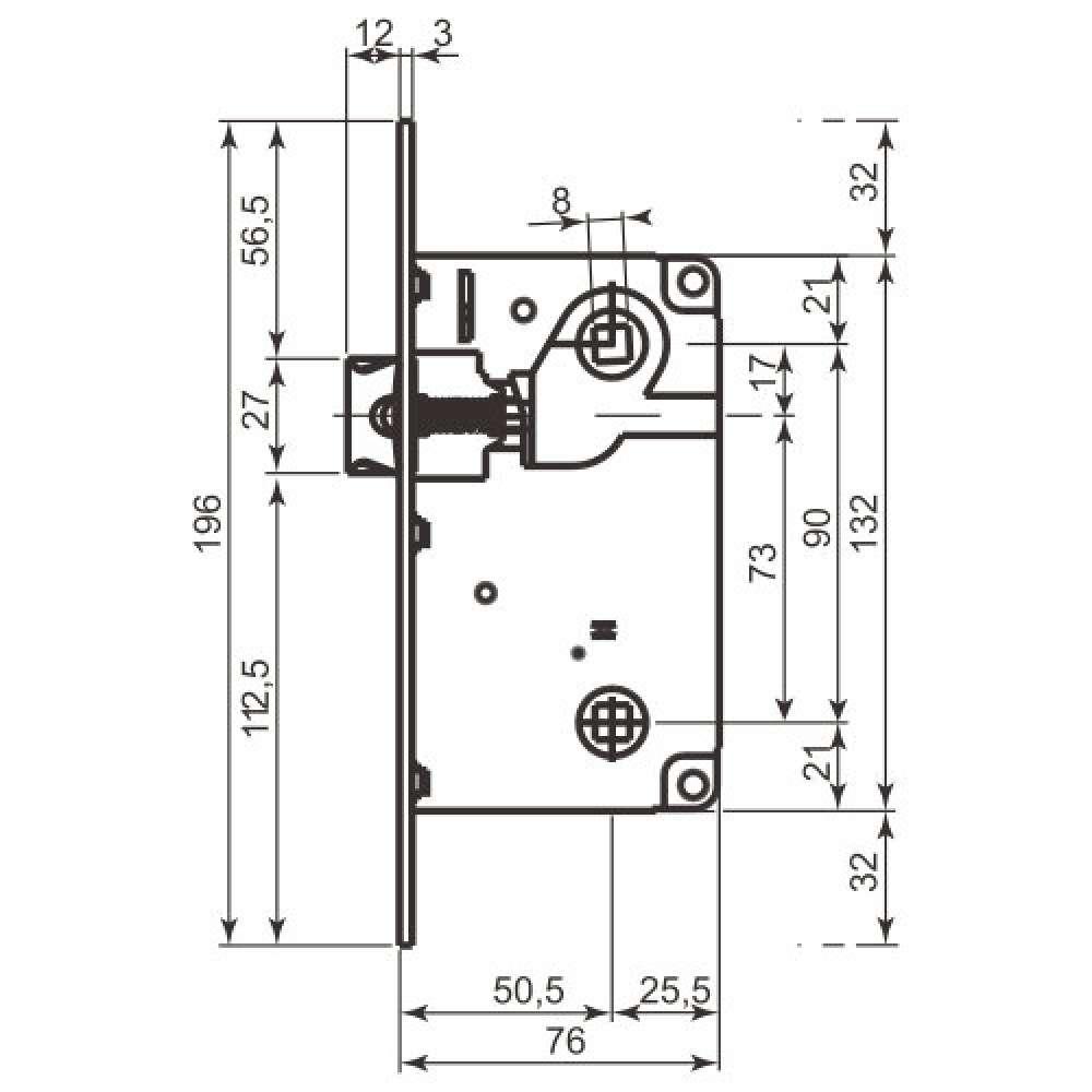 Механизм AGB B010135034 матовый хром (2827)