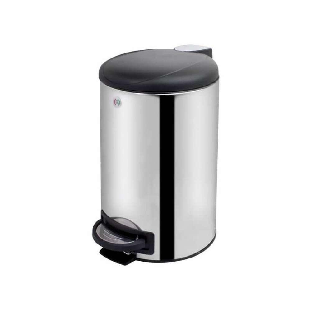 Ведро для мусора Trento Slow Motion на 12 л, хром полированный (37954)