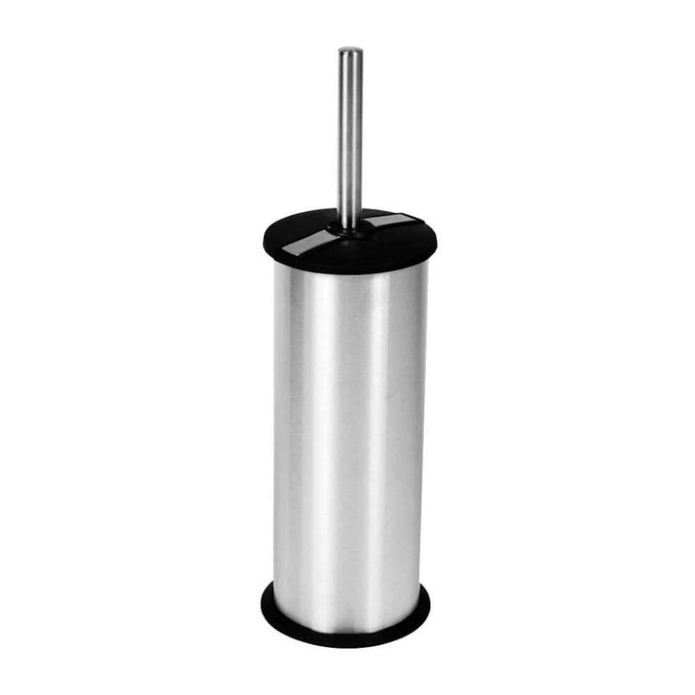 Ершик для унитаза Arino с пластиковой крышкой, хром матовый (23600)