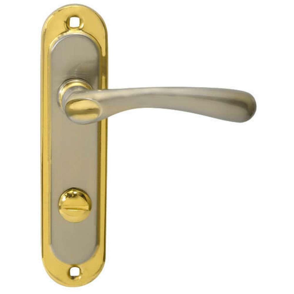 Pучка на планке BRUNO 910K6 WC матовый никель/золото (15304)
