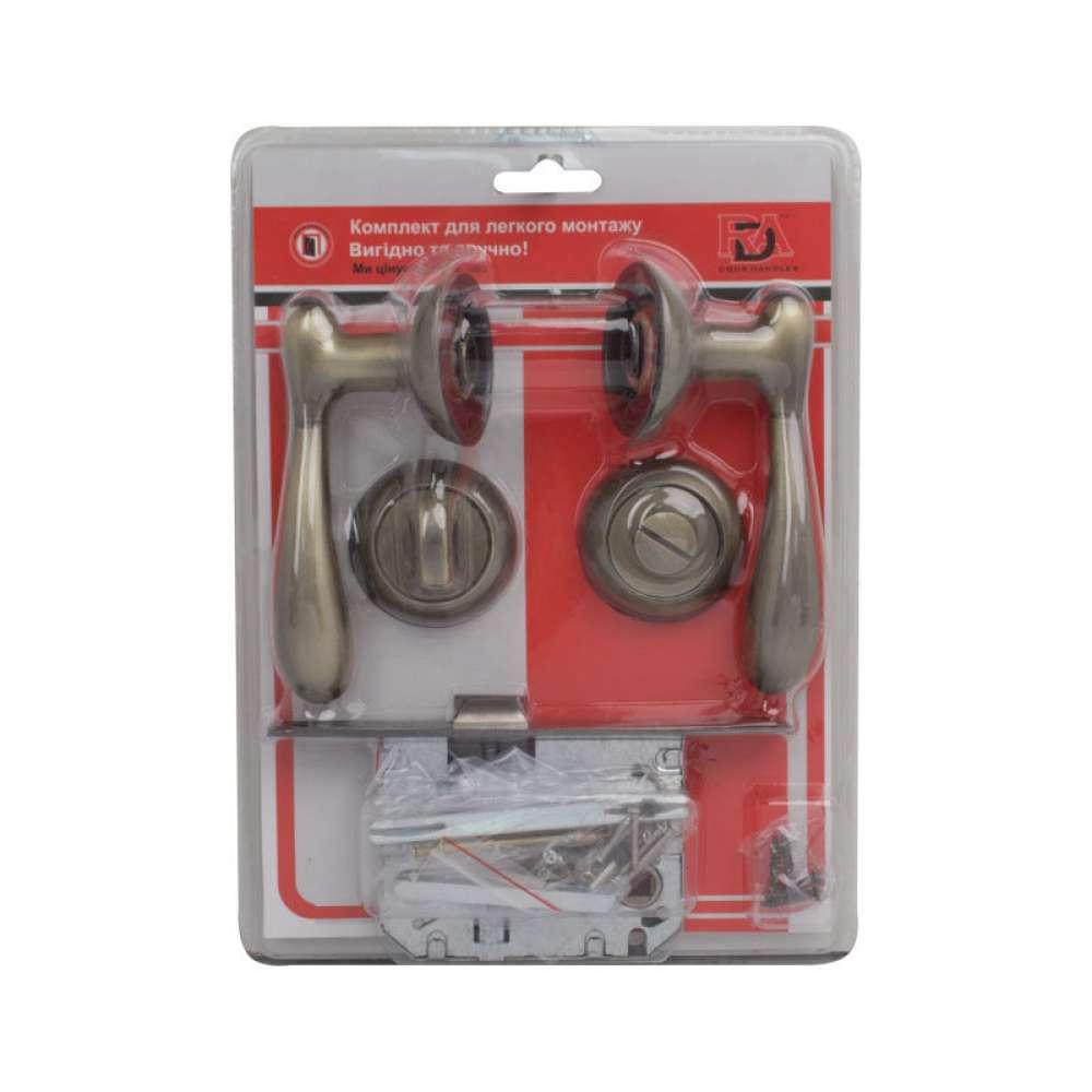 Комплект для межкомнатной двери RDA Imola WC 257 матовая античная латунь (в блистере) (35669)