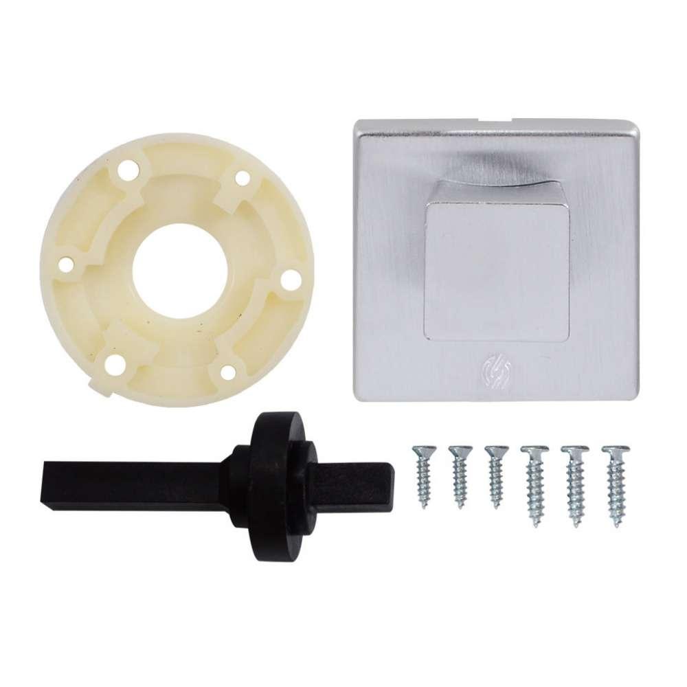 Securemme Kit 5035KCS Roma Комплект поворотник к задвижке квадратный, матовый хром